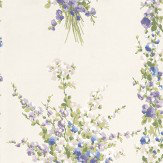 Nina Campbell Suzhou Blue, Lilac and Green Off White / Blue / Lilac / Green Wallpaper - Product code: NCW4184-04