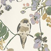 Nina Campbell Penglai Coral, Lavender and Green Green / Lavender / Off White Wallpaper - Product code: NCW4182-01