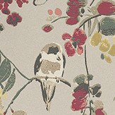 Nina Campbell Penglai Charcoal, Sage and Coral Coral / Green / Charcoal Wallpaper - Product code: NCW4182-02