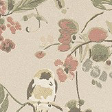 Nina Campbell Penglai Pearl and Pastel Green / Pearl / Pink Wallpaper - Product code: NCW4182-04