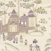 Nina Campbell Cathay Parade Magenta Magenta / Eucalyptus Wallpaper