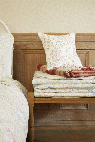 Image of Morris Throws Larkspur Quilted Throw, 101030