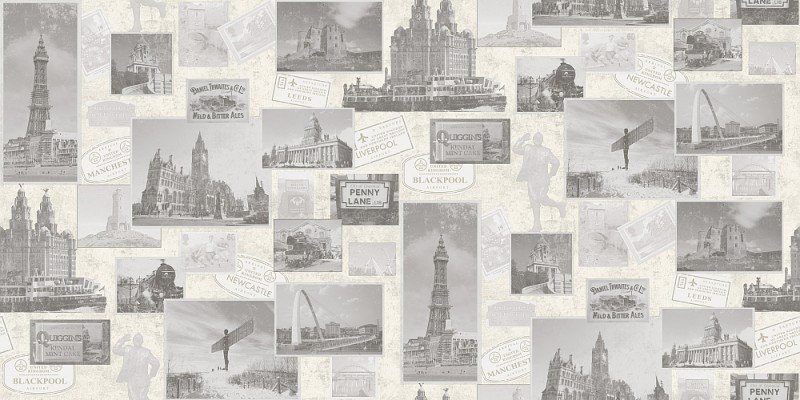 Image of Coloroll Wallpapers Heritage Grey, M0897