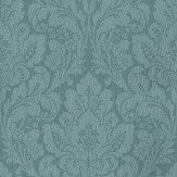 Casadeco Damask Teal Wallpaper