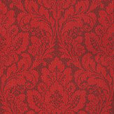 Casadeco Damask Red Wallpaper