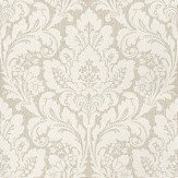 Casadeco Damask Grey Wallpaper
