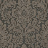 Casadeco Damask Chocolate Brown Dark Chocolate Wallpaper