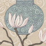 Brian Yates In Bloom Duckegg Wallpaper
