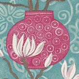 Brian Yates In Bloom Aqua Wallpaper