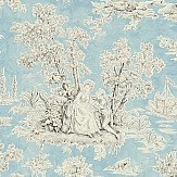 Sanderson Josette Charcoal/Porcelain Wallpaper