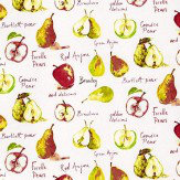 Prestigious Autumn Fruits Watercolour Red / Green / Yellow / Off White Fabric
