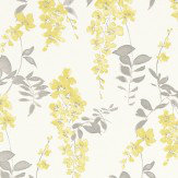 Sanderson Wisteria Blossom  Linden/Charcoal Fabric - Product code: 223578