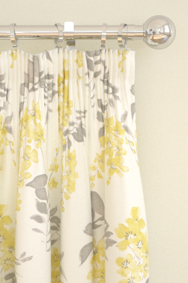 Sanderson Wisteria Blossom  Linden/Charcoal Curtains - Product code: 223578