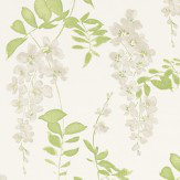 Sanderson Wisteria Blossom  Silver/Apple Fabric - Product code: 223581