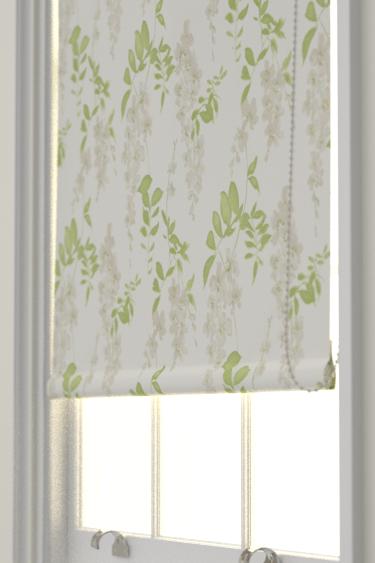 Sanderson Wisteria Blossom  Silver/Apple Blind - Product code: 223581