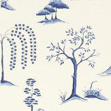 Sanderson Willow Tree  Blue/Ivory Fabric