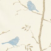 Sanderson Dawn Chorus  Mineral Blue Fabric - Product code: 223598