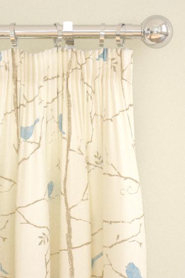 Sanderson Dawn Chorus  Mineral Blue Curtains - Product code: 223598