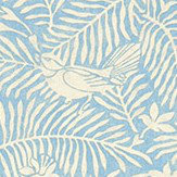 Sanderson Calico Birds  Mineral Blue Fabric - Product code: 223583