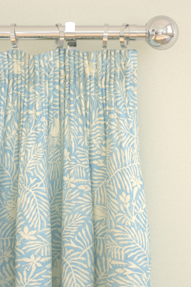 Sanderson Calico Birds  Mineral Blue Curtains - Product code: 223583