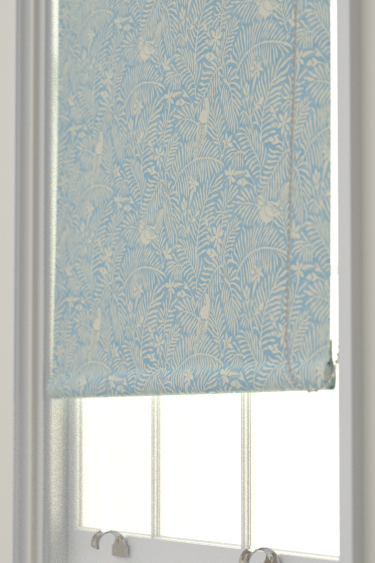 Sanderson Calico Birds  Mineral Blue Blind