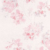 Casadeco Garland Pink Wallpaper