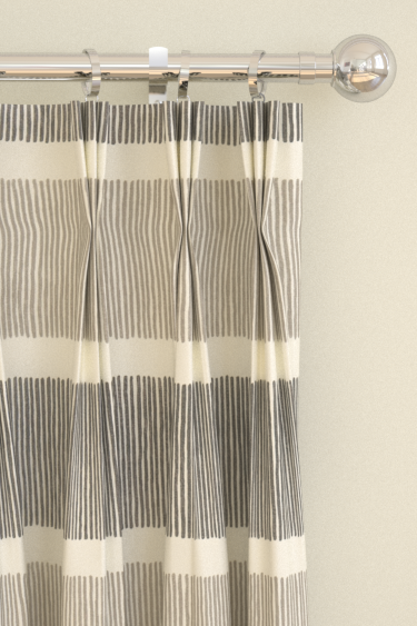 Tatami Stripe Curtains By Sanderson Charcoallinen Wallpaper Direct