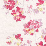 Casadeco Garland Bright Pink Wallpaper