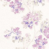 Casadeco Garland Lilac Wallpaper