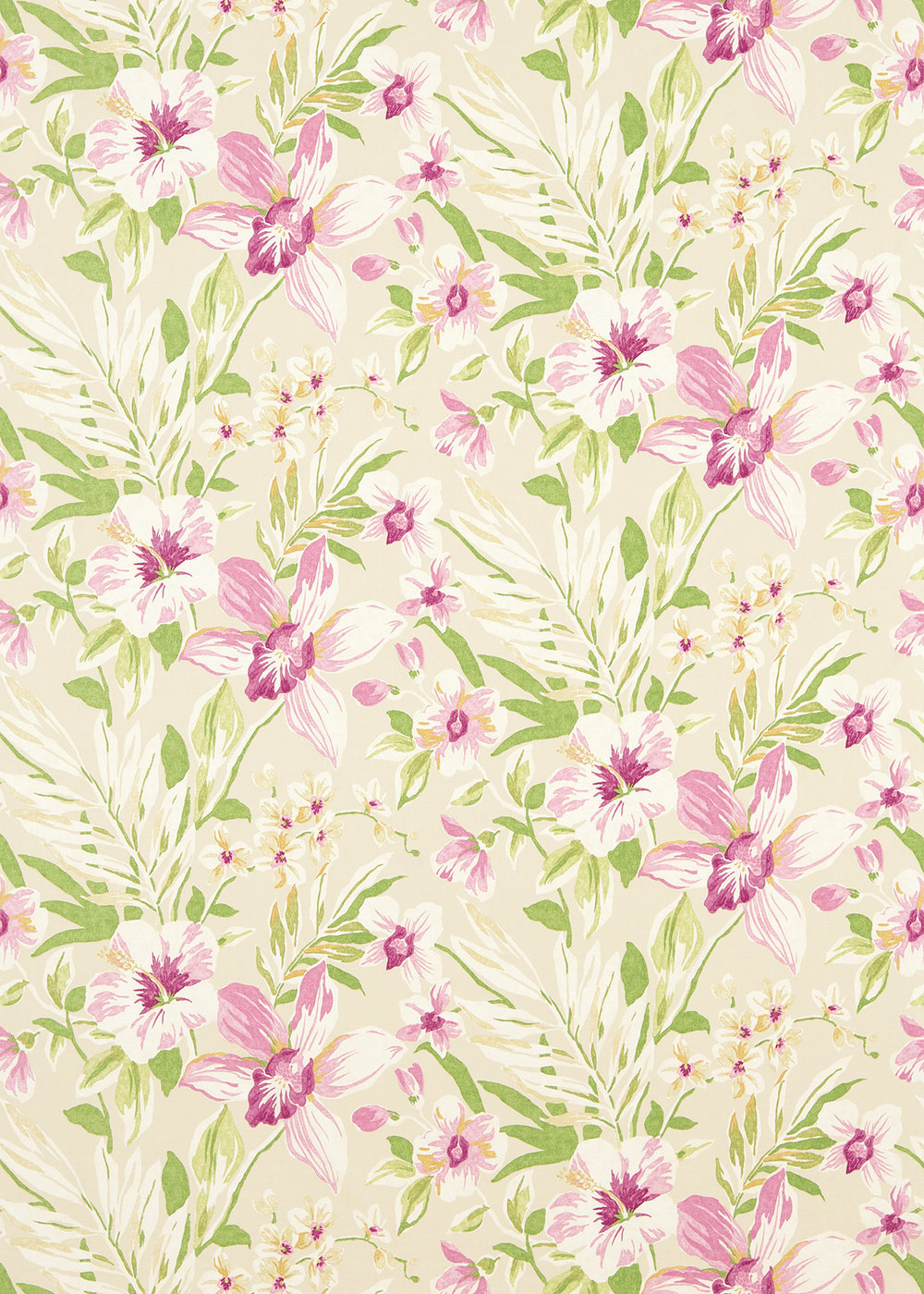 Sanderson Samaya  Berry/Cream Fabric main image