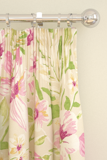 Sanderson Samaya  Berry/Cream Curtains