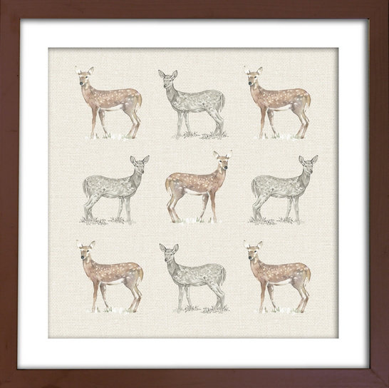 Deer Framed Print By Arthouse Wallpaper Direct