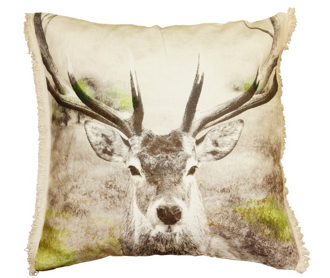 Stag Cushion - by Arthouse