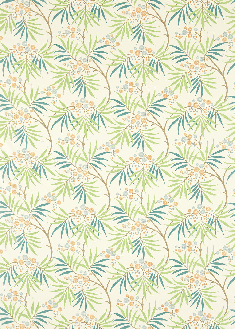 Sanderson Arberella  Coral/Teal Fabric - Product code: 223588