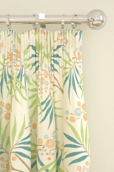 Sanderson Arberella  Coral/Teal Curtains - Product code: 223588