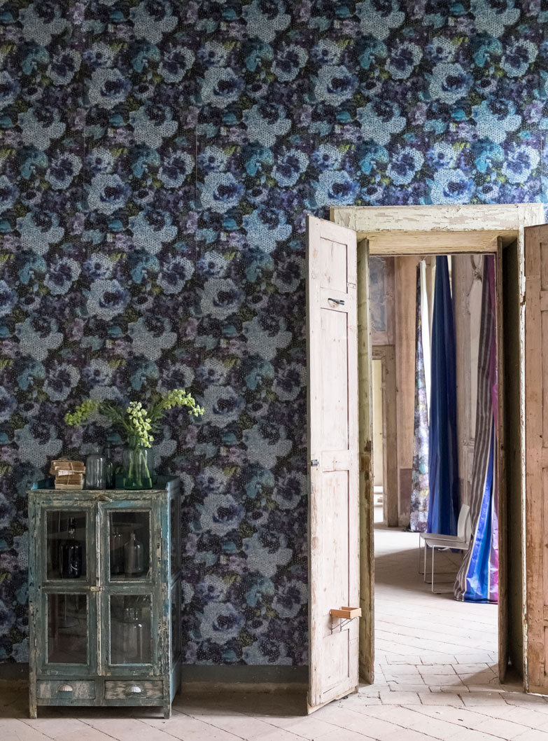 Designers Guild Mattiazzo  Cobalt Wallpaper extra image