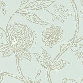 Sanderson Solaine  Sage / Gilver Wallpaper - Product code: 214084