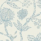 Sanderson Solaine  Calico / Wedgwood Wallpaper - Product code: 214087