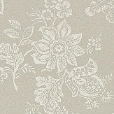 Sanderson Lyon  Taupe / Cream Wallpaper