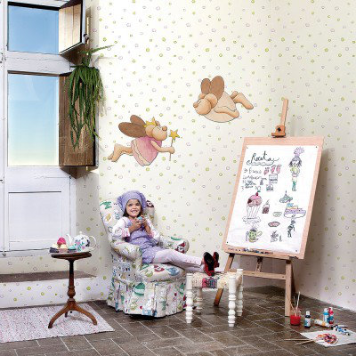 Image of Paper Moon Art Fairy Mouse Wooden Sihouette, 3400006