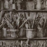 Andrew Martin Paintbox Charcoal Wallpaper