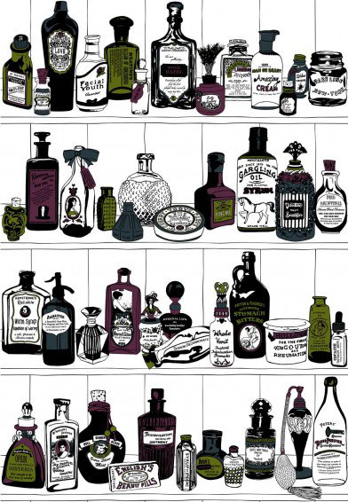 Image of Dupenny Wallpapers Potions Colour, POTIONS COLOUR