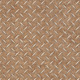 Galerie Metal grid brown Soft Sand Brown Wallpaper