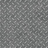 Galerie Metal grid grey Dark Grey Wallpaper