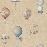 Galerie Flying Machines Brown Soft Brown Wallpaper