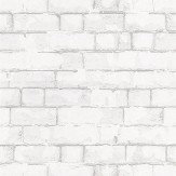 Galerie Brick Wall White White / Grey Wallpaper