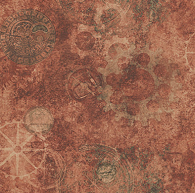 Galerie Horology Copper Copper / Red / Orange Wallpaper main image