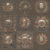 Galerie Clockface Copper Wallpaper
