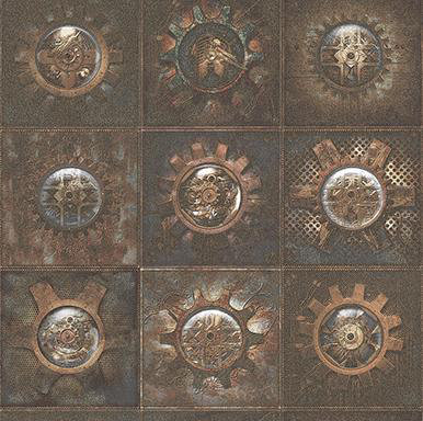 Galerie Clockface Copper Wallpaper main image