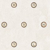 Galerie Typewriter Keys Brown Cream / Brown Wallpaper